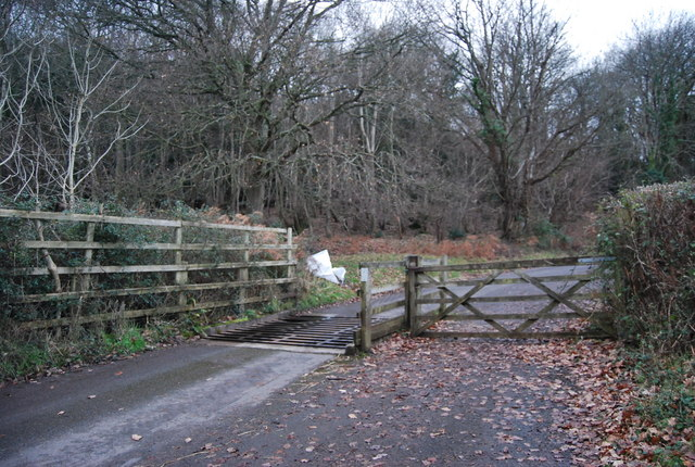 Cattle Grid west of West Luccombe