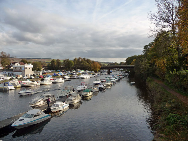 River Leven downstream from Balloch Bridge