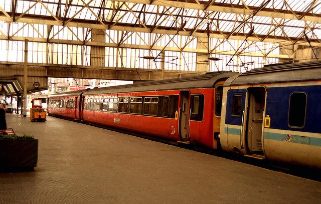 Class 150 unit at Carlisle station