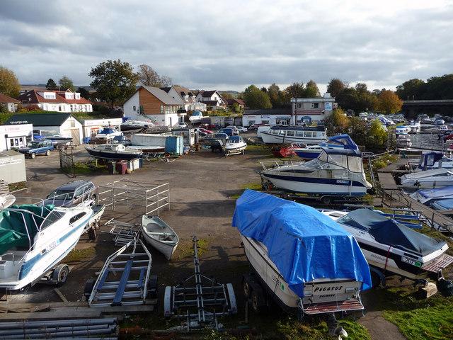 Loch Lomond Marina - boatyard near Balloch Bridge