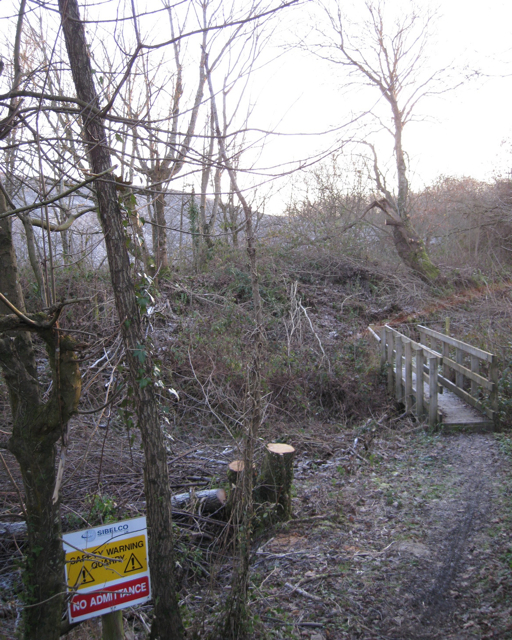 Footpath between the River Teign and Southacre quarry
