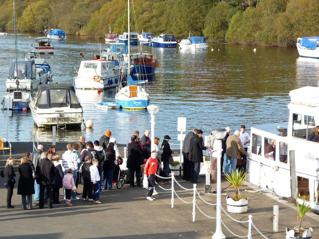 Queuing for a boat trip
