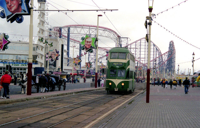 Blackpool: near Pleasure Beach