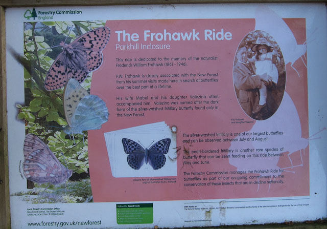 Frohawk Ride information sign