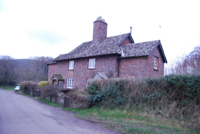 House at the lane junction, West Luccombe