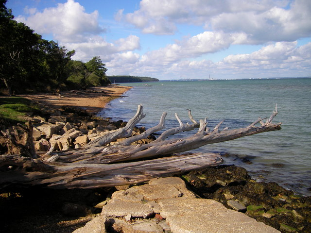 WoodBay Beach  Looking West