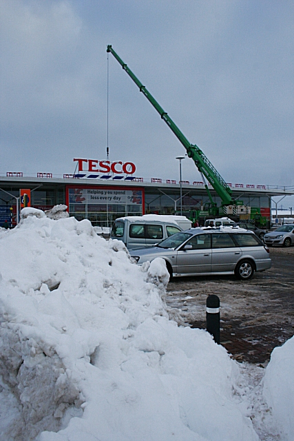 Tesco in the Snow