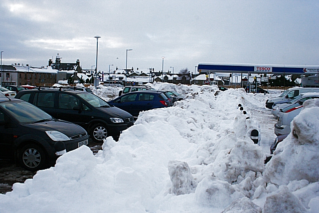 Snowbound Car Park