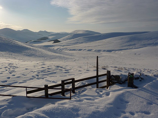 Edinburgh City Boundary in snow