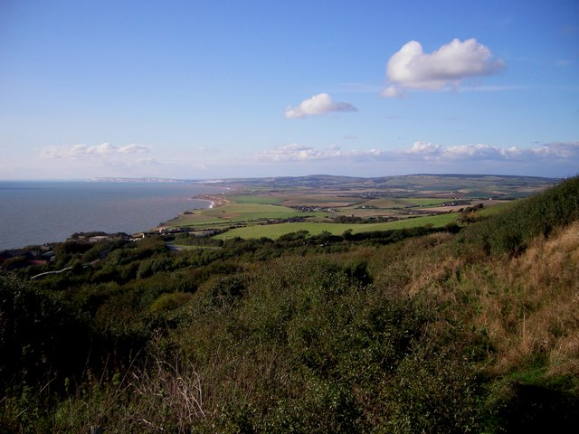 View From Above Blackgang Chine Looking West