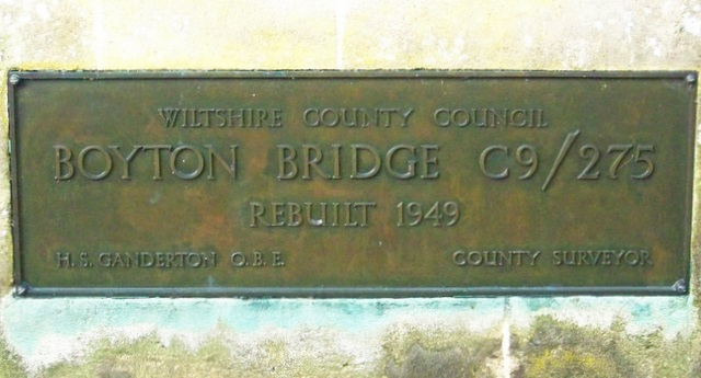 Plaque, Boyton Bridge