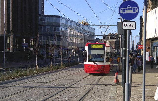 Tram on trial in George Street (East).