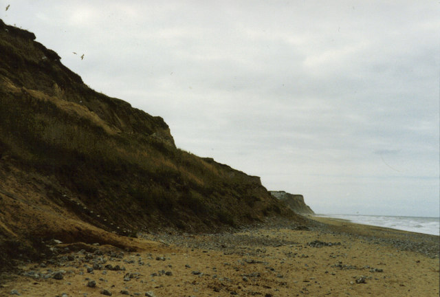 Cromer cliffs looking West