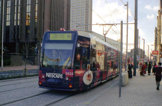 Tram on trial, George Street