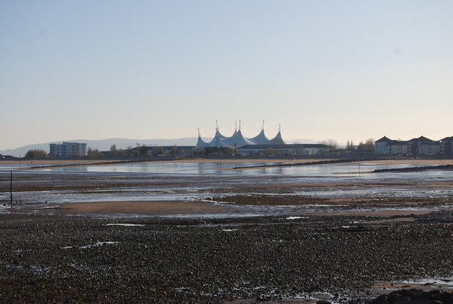 Looking across the bay to Butlins