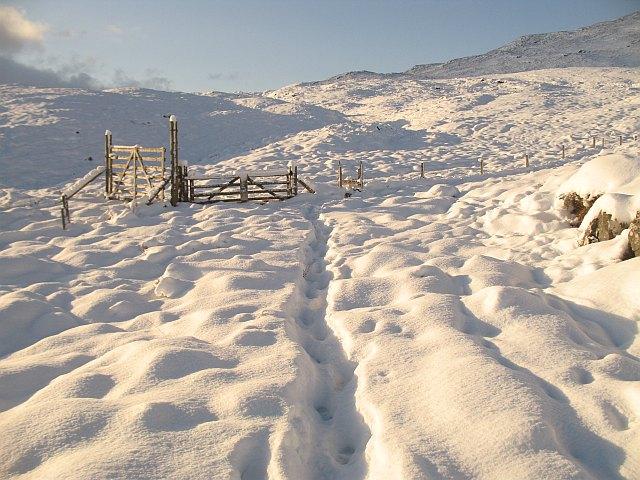 Gate, Munerigie - Loch Oich path