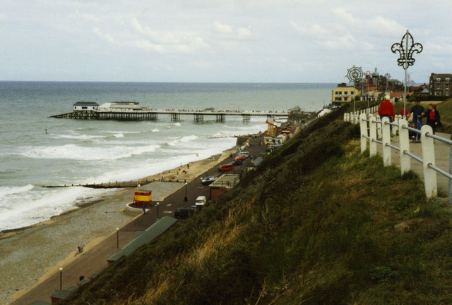 Cromer clifftop and pier
