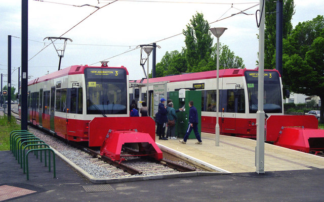 Trams: first day at New Addington