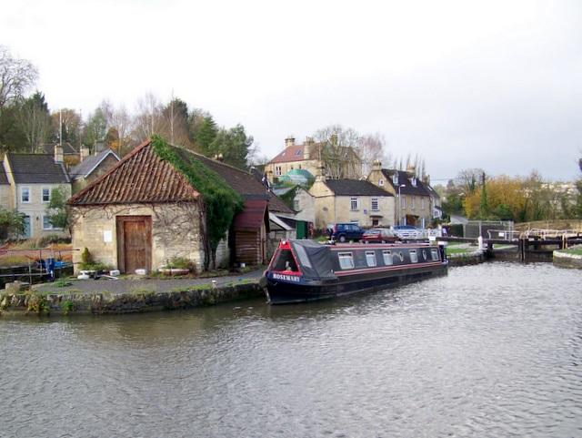 Canal scene, Bradford-on-Avon