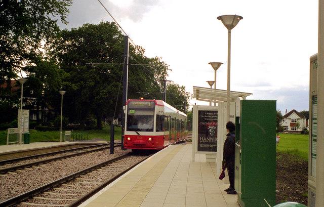 Tram at Lloyd Park, Croydon