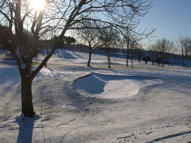 Snowy bunker, Torquay golf course