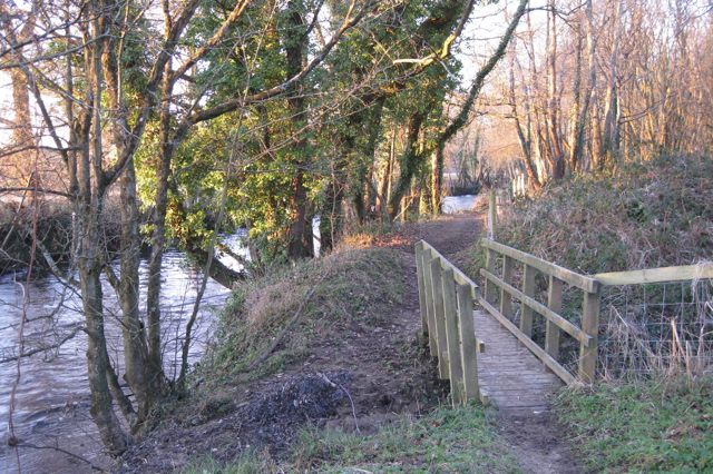 Footbridge over a ditch near Southacre clay quarry