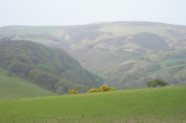 Exmoor: the Lyn Valley from Brendon Barton