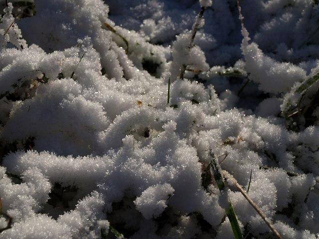 Snow above the coast path