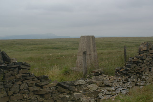 The trig point on Hameldon Hill