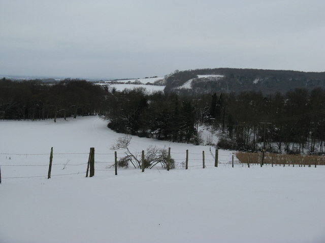 Valley view from near Dale Park House