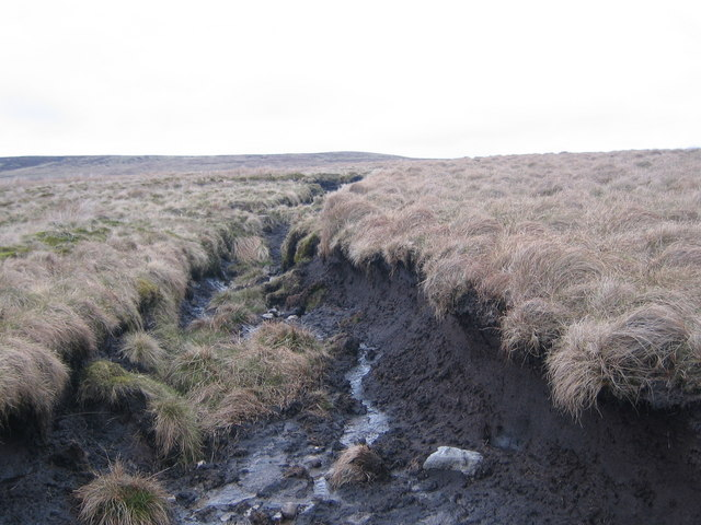 Peat hagg on Ettersgill Common