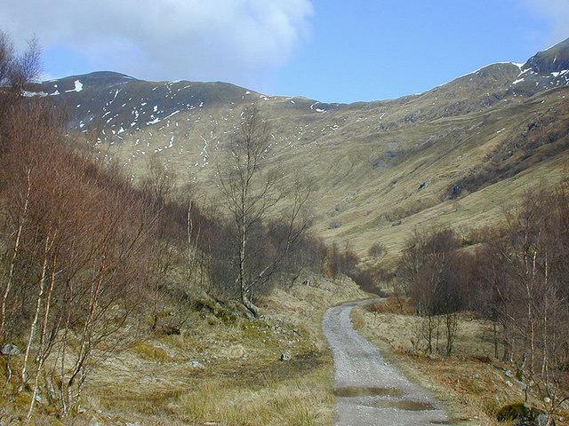 Track heading towards Coire na Ba