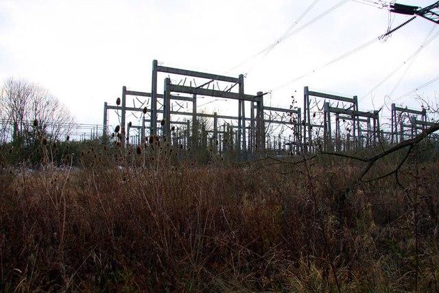 Electricity sub-station at Sandford Brake