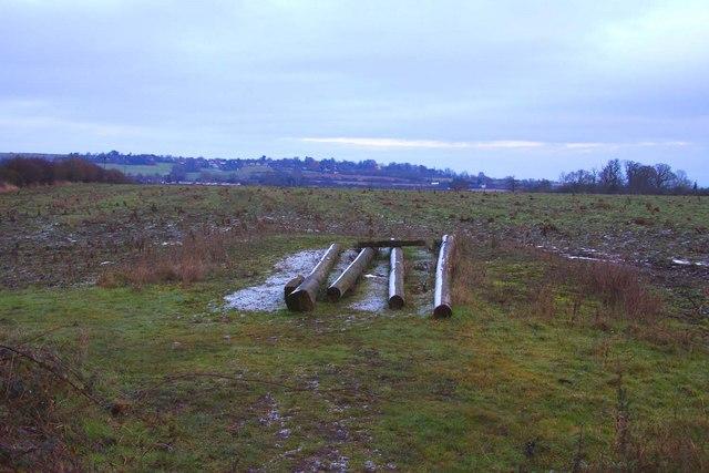 Looking across a field towards Garsington