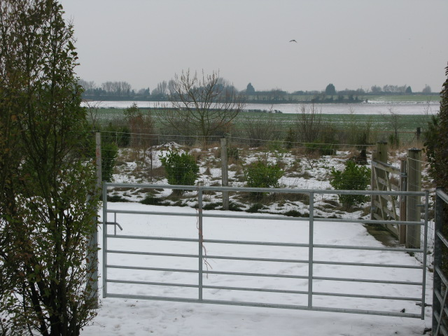 View NW across garden and farmland