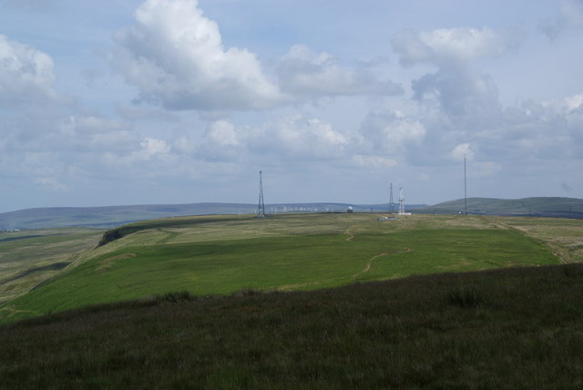 The weather station on Hameldon Hill