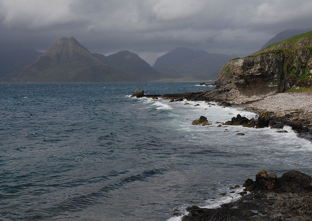Loch Scavaig coastline at Elgol