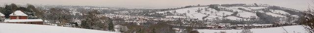Tiverton : Snow View of Tiverton