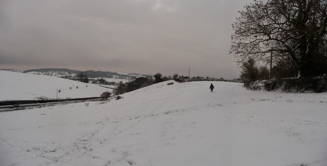Tiverton : Bakers Hill, Snowy Field & Hillside