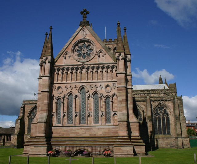 Eastern facade, Hereford Cathedral