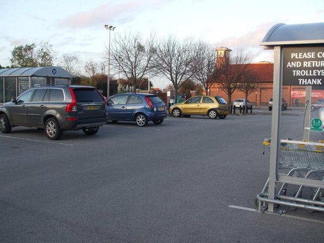 Car park at Morrison Retford