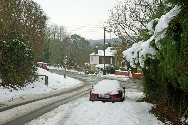 The old road crosses the new, Balcombe