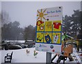 J3271 : 'Be Sun Safe' sign, Drumglass Park by Rossographer