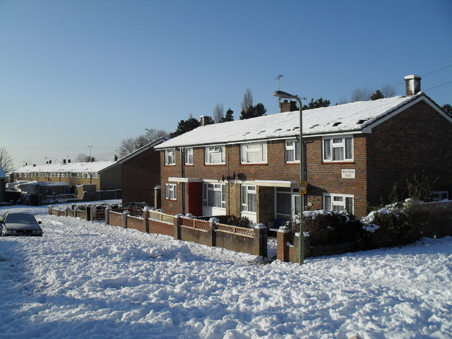 Heavy snow in West Leigh (1)