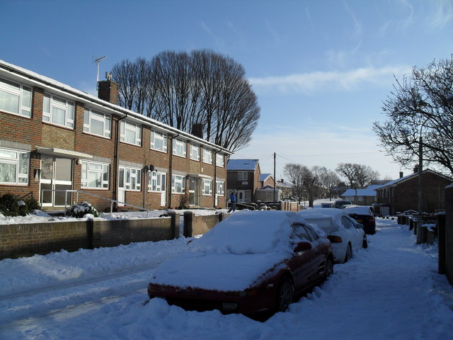 Heavy snow in West Leigh (3)