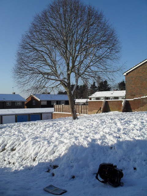 Heavy snow in West Leigh (5)