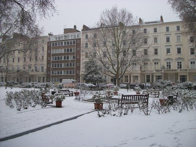 Frozen Fountain in St George's Square