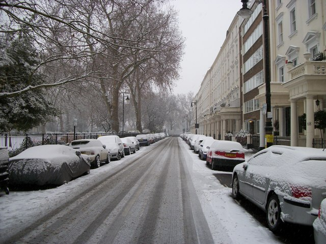 St George's Square-West Side looking toward Grosvenor Road