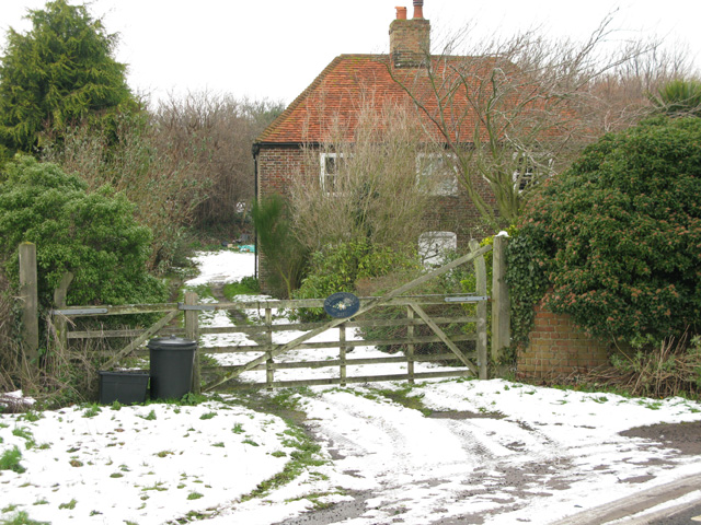 Marshborough Gate on the W of Marshborough Road