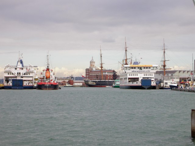 Busy Portsmouth Harbour